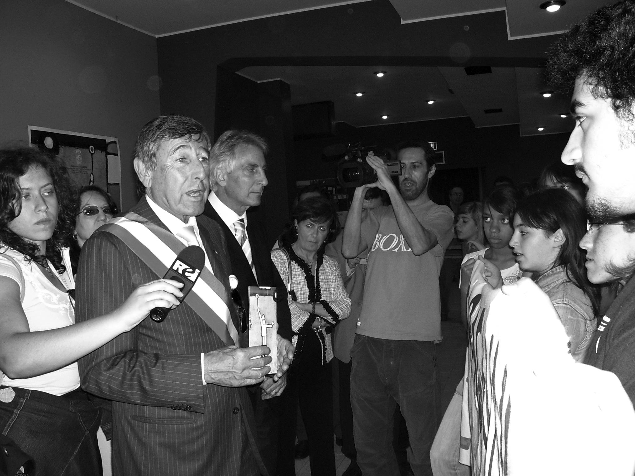 Il sindaco Scapagnini e l'assessore Maimone (foto Giuseppe Scatà)